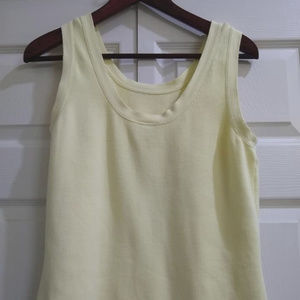 Talbots Cotton Knit Sleeveless Top Large